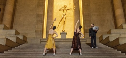 Aerobics and the Bee Gees Confront Titian, Picasso, Duchamp at PMA