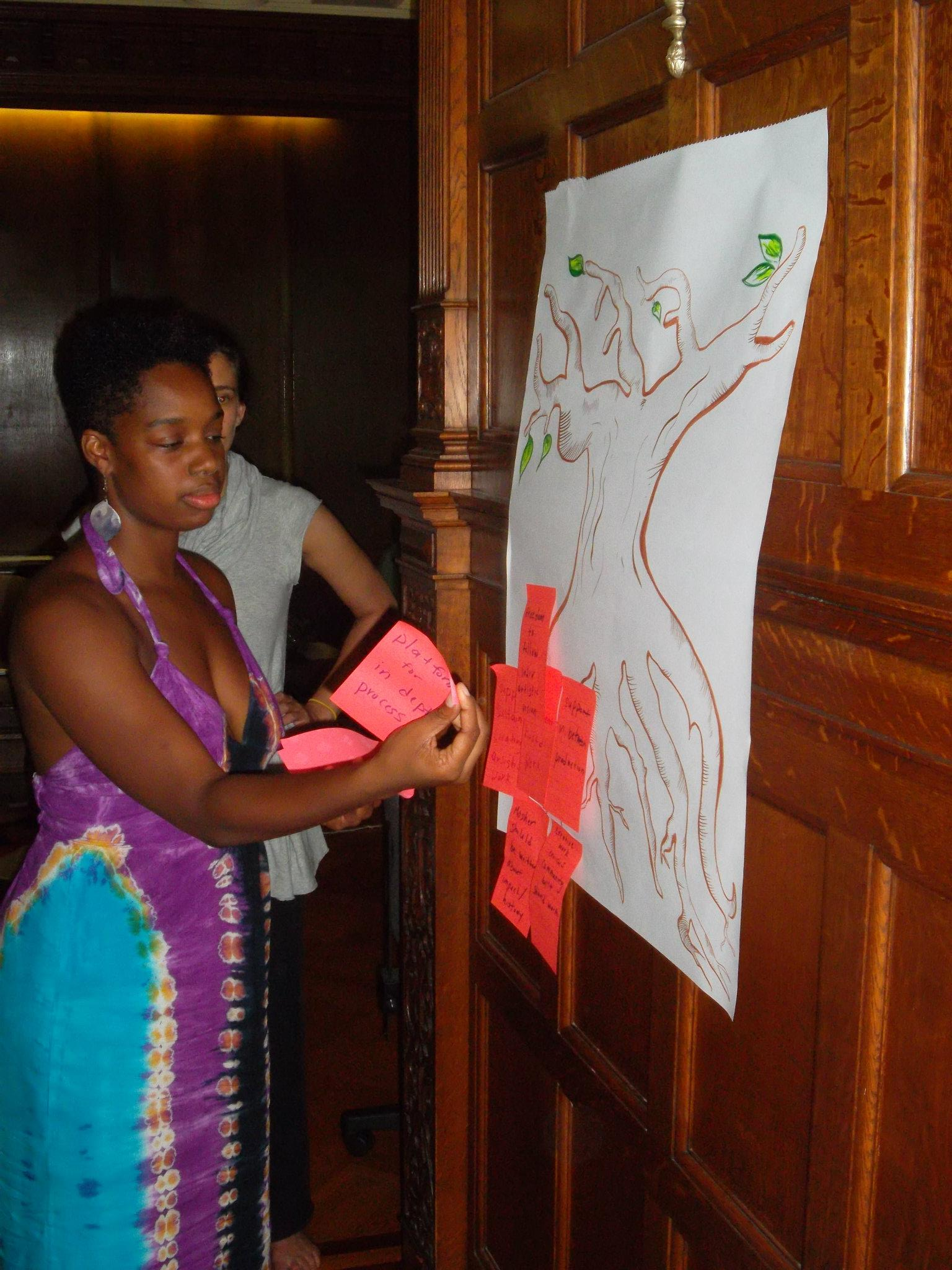 Lela Aisha Jones at the Mascher planning retreat in 2012. Photo courtesy of Mascher Space.